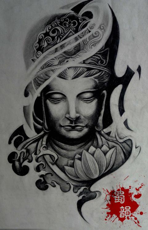 攀枝花纹身佛纹身手稿