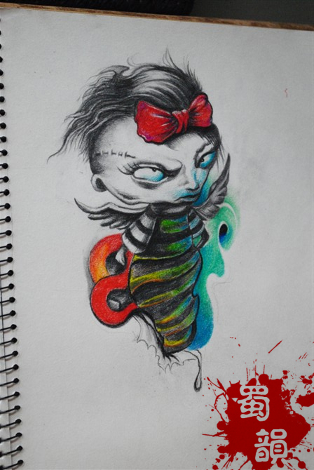 恶魔纹身,个性纹身,攀枝花纹身 高清图片