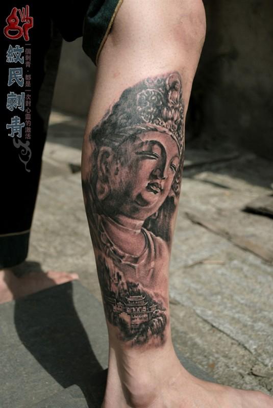 为大家分享一张佛纹身图案,攀枝花专业纹身店