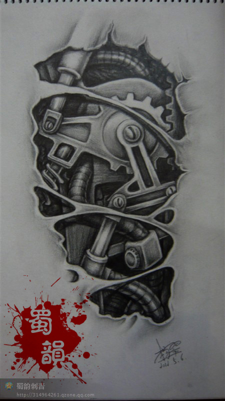 美女纹身图案,二郎神纹身