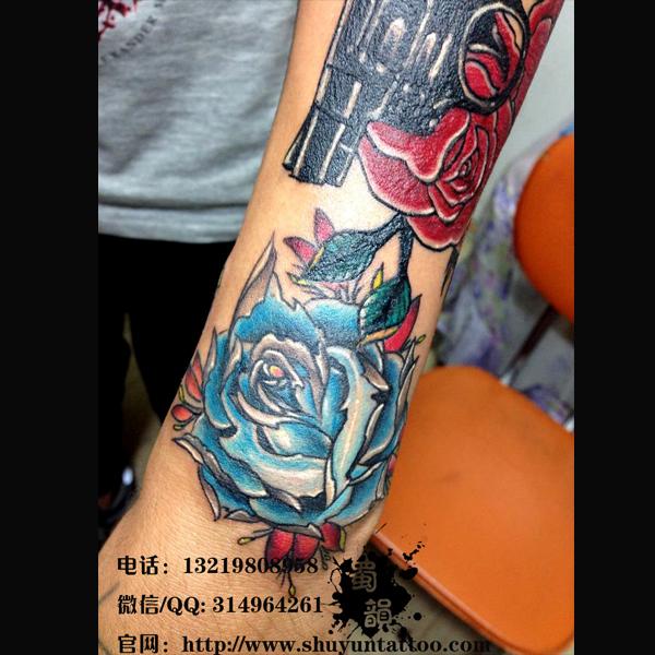 半甲貔貅纹身手稿素材