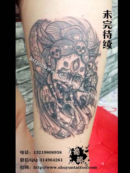 男人小腿艺妓 纹身分享展示